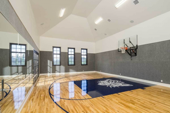 Sport Court Splendor 290000iy Architectural Designs House Plans Outdoorsport Outdoor Sport C In 2020 Home Basketball Court Home Gym Design Luxury House Plans