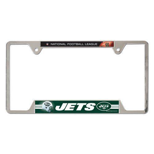 New York Jets Metal License Plate Frame