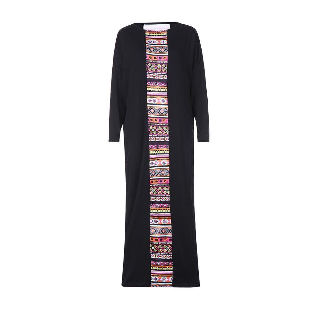 d304257077e88 Maternity Fashion - baggy maternity maxi dress : Voberry@ Women Muslim Dress  Women Batwing Long Sleeve Crew Neck Maxi Plus Size Long Dress -- Click  image ...