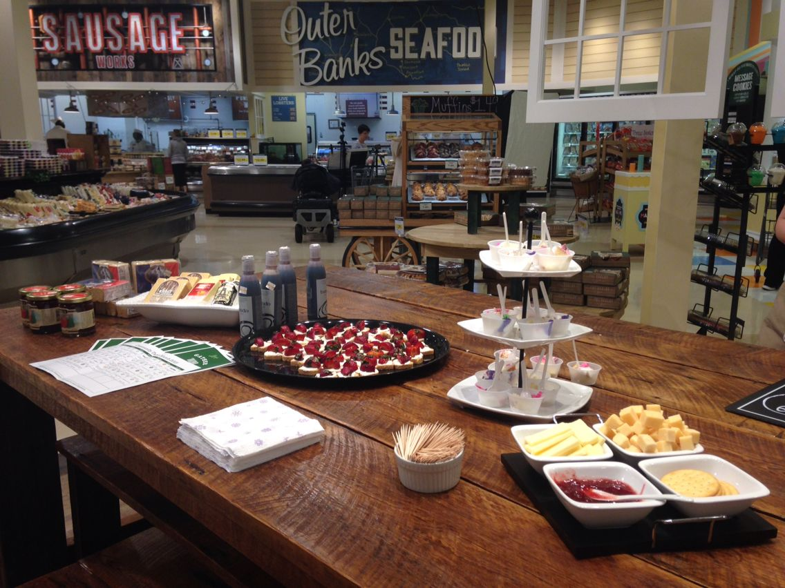 Tea Time with the Cheese Shop! We had mini strawberry bites, white cake with our house made white icing, cave aged cheddar from Vermont, creamy Havarti cheese, and strawberry basil preserves.
