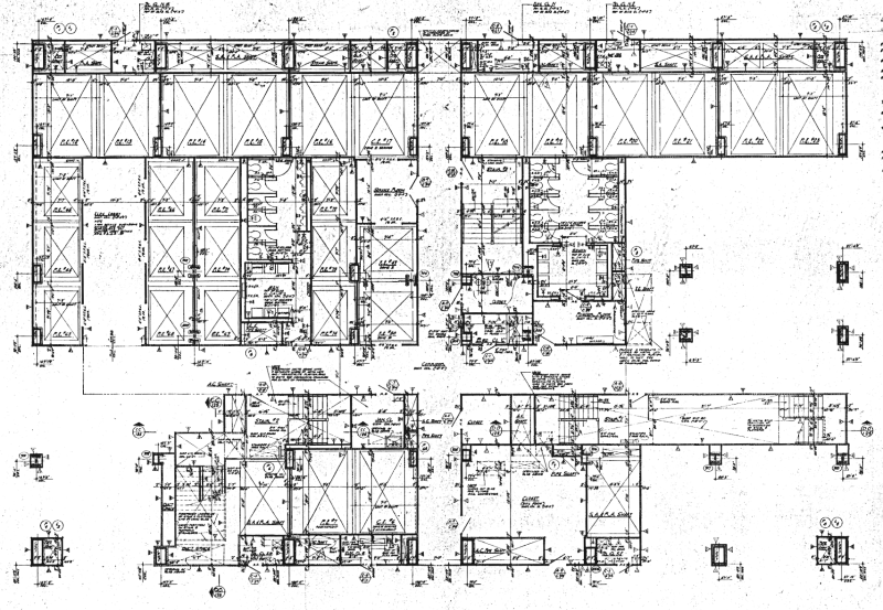 Twin tower 66th floor floor plan construction document twin tower 66th floor floor plan construction document malvernweather Images