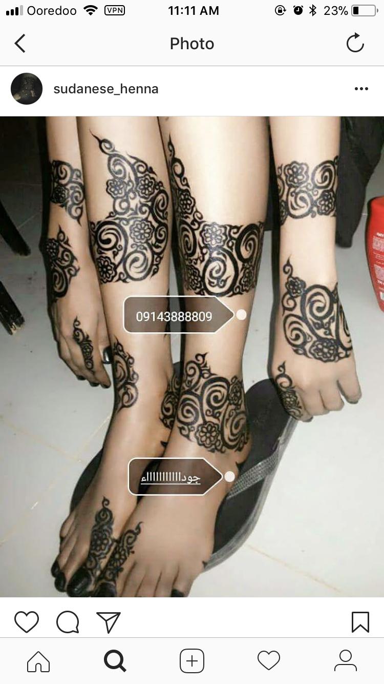 Sudanese Henna Foot Henna Henna Designs Hand Henna Tattoo Designs