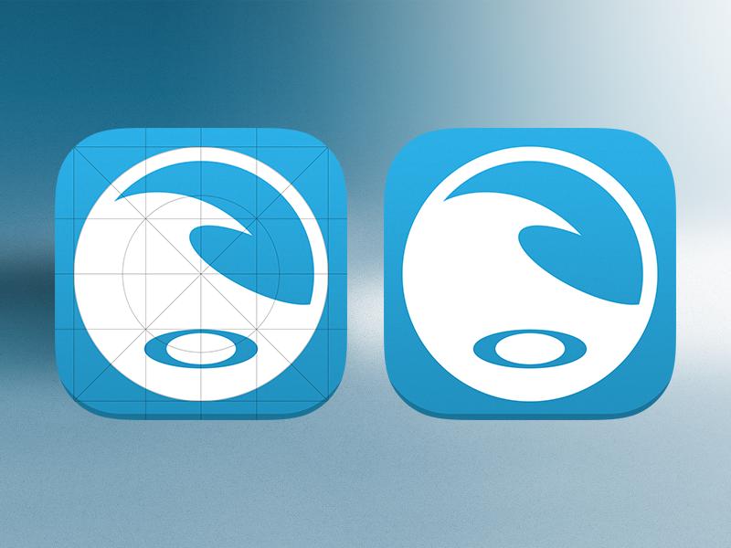 Surf Report App Icon App Icon Surf Report App Icon Design
