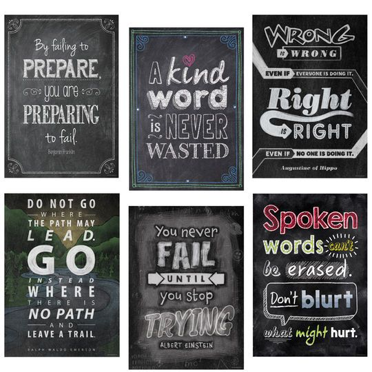 Inspire U Chalk Posters Ct 2 6 Posters By Creative Teaching