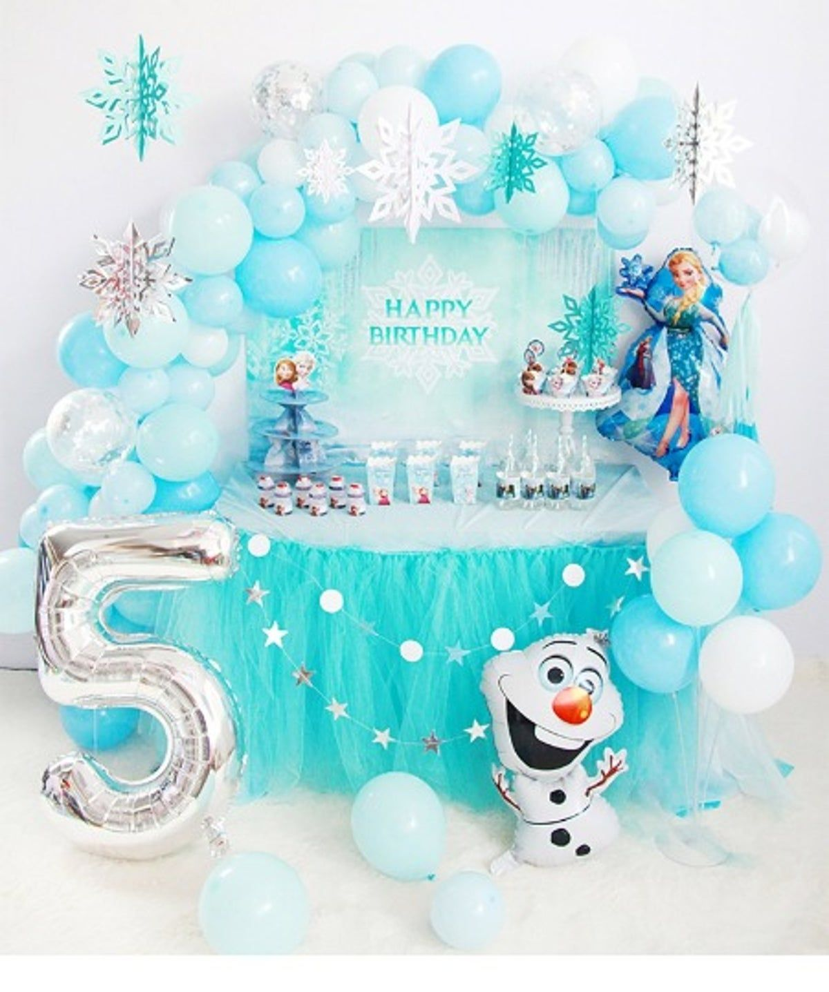 Disney Frozen Birthday Party Balloon Kit on Mercari