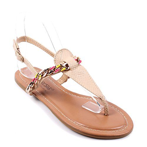 New Casual Chain Style Sexy Ladies Ankle Strap Buckle Womens Sandals Slingbacks New Without Box 6 White >>> Visit the image link more details.