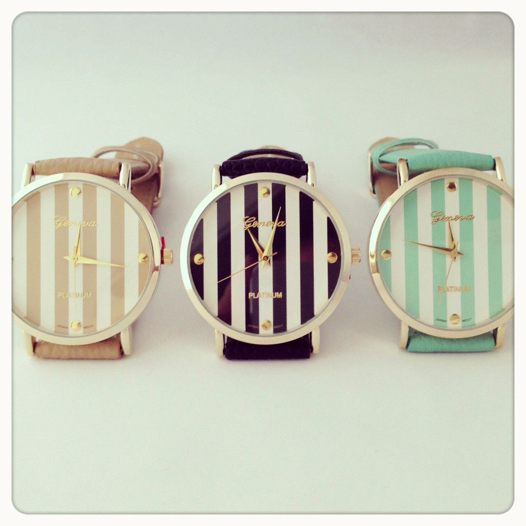 Stripes watch. $29 obsessed.