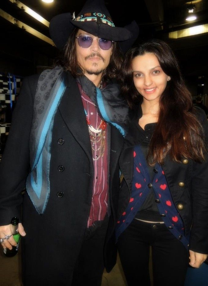 Johnny Depp at Alice Cooper's Christmas Pudding, December 8