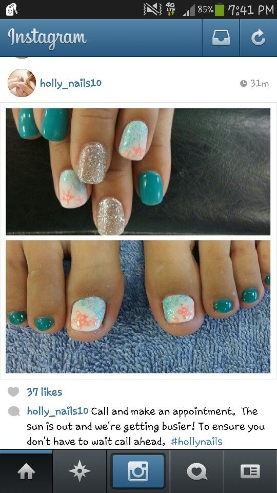 Pin By Cindy Moss On Nailed It Beach Nails Beach Nail Designs Beach Toe Nails