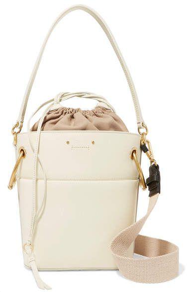 Chloé - Roy Small Leather Bucket Bag - Ivory  af17bf8a1f8fc
