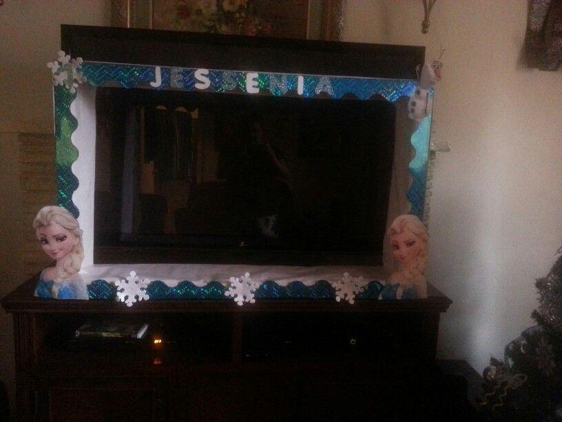 Frozen home made picture frame | Frozen | Pinterest