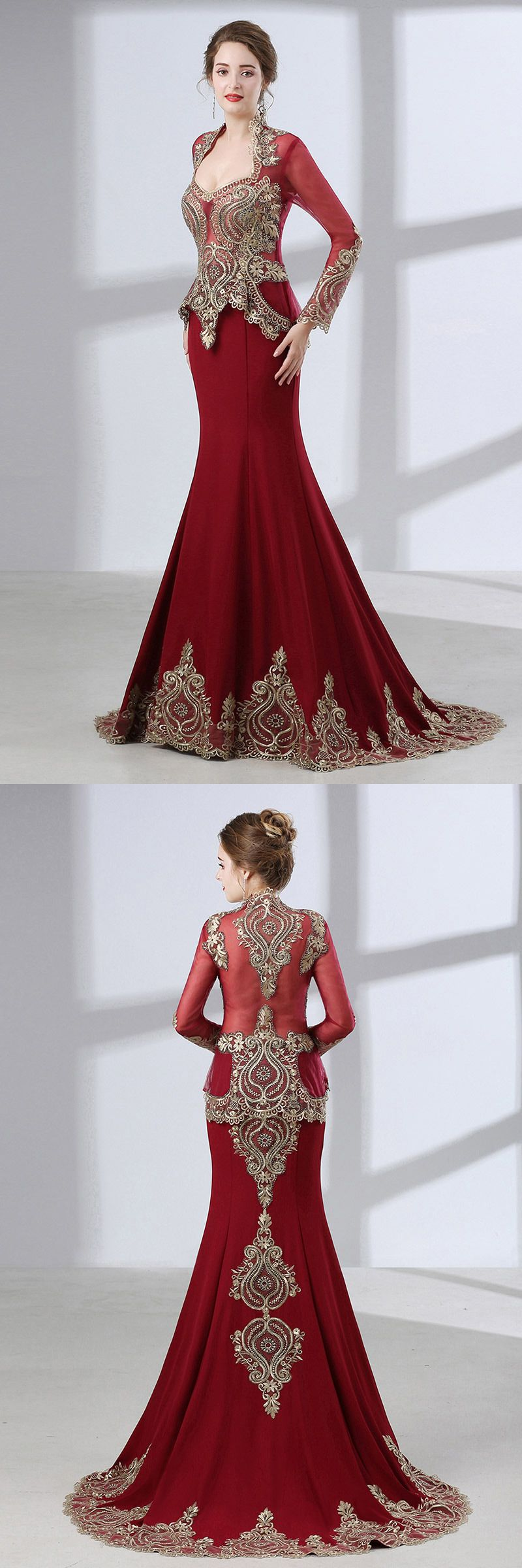 Lace dress with cape  Vintage Lace Trim Burgundy Wedding Dress Sleeved With Cape CH