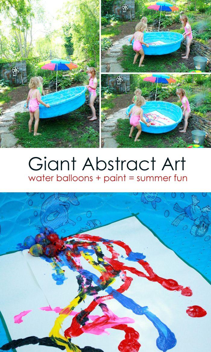 Water Balloon Painting Outdoor Summer Art Activity Kids Projects