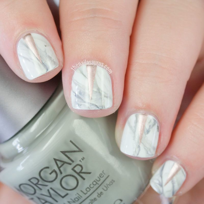 More Marble Nails and a Dreamy Copper Nail Polish | Marble nails ...