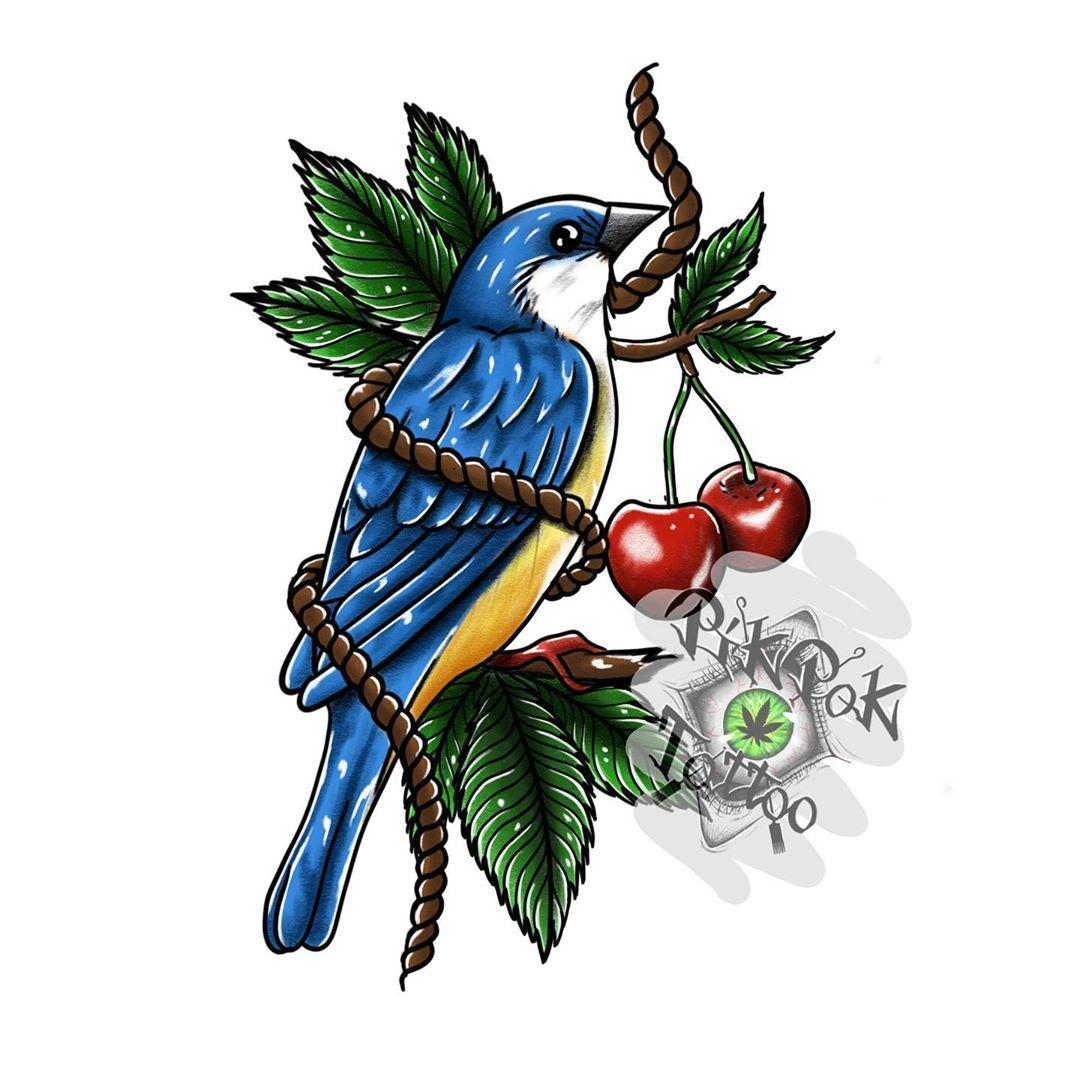 Kolejny projekt do zgarnięcia ktoś chętny ? 😁😁😁 #tattoocolor #tattoo_witryna #tattoodesign #bird #sparrow #birdtattoo #sparrowtattoo #pikpokart #ktosieniedziaratenfujara #polandtattoos #f4f #l4l  Follow Me and my friends @eva_konashevsky @przystawsiedotreningu @locotattooart @tattoo_witryna @pikpok_tattoo