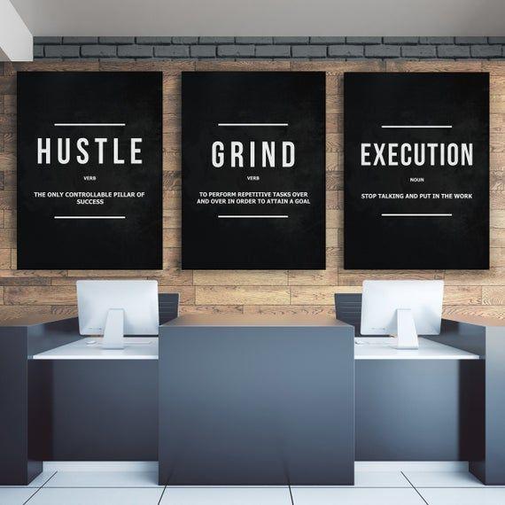 Execution Noun Office Decor Wall Art Motivational Canvas Print Entrepreneur Art