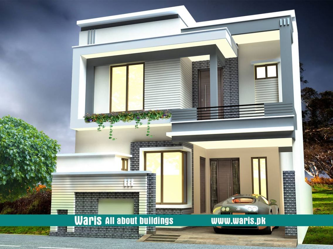 Waris 10 marla house 3d view elevation 30x65 in gujranwala cantt pakistan