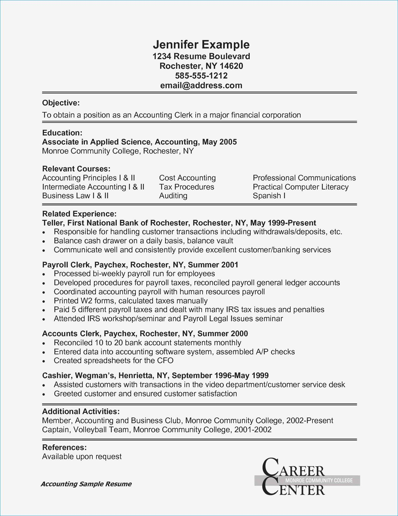 Call Center Resume Examples Lovely Unique Administrative