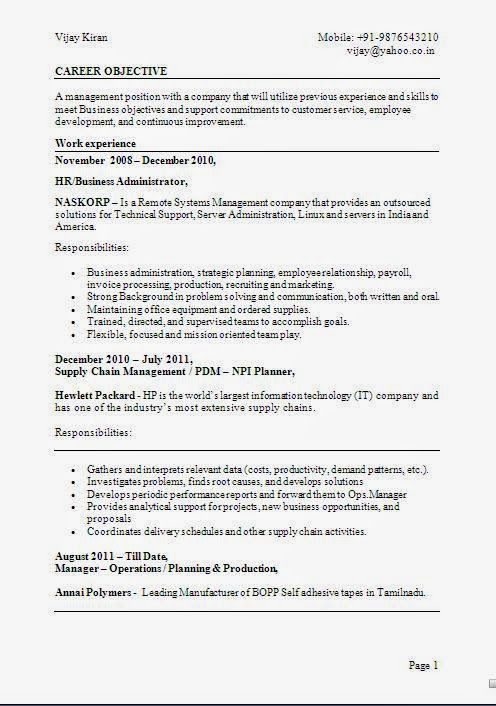 accounting resume samples Sample Template Example ofExcellent - example of career objective