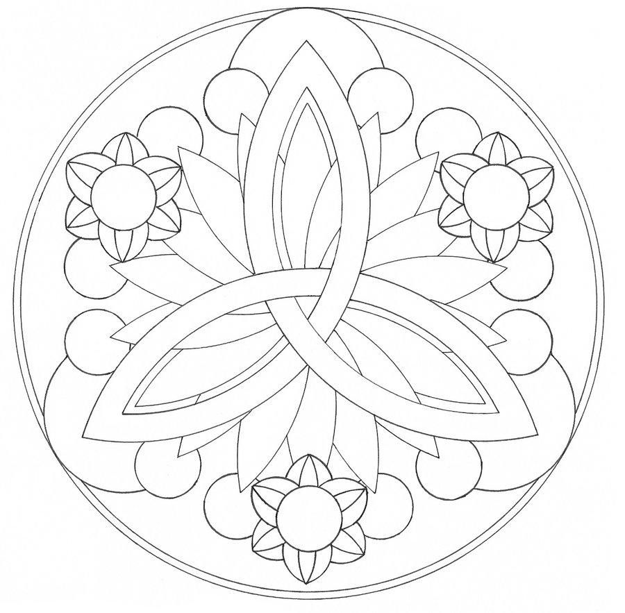 easy mandala coloring pages 1 - Simple Mandala Coloring Pages Kid
