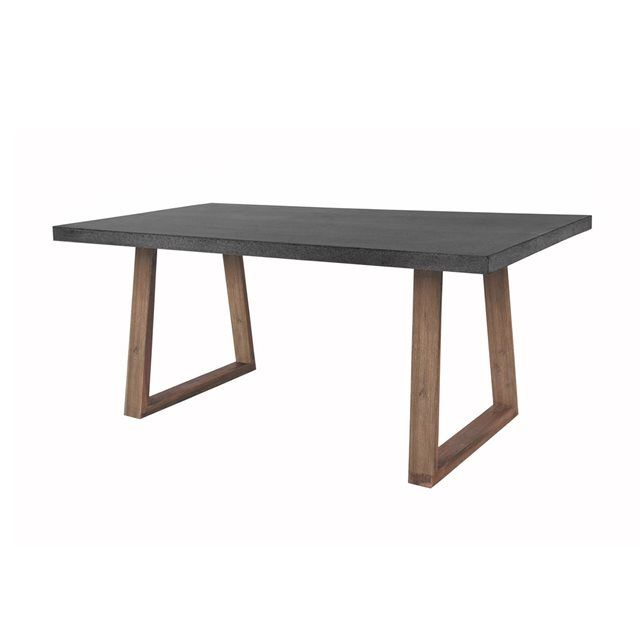 Table rectangulaire katunga 180 cm gris rendez vous deco la redoute