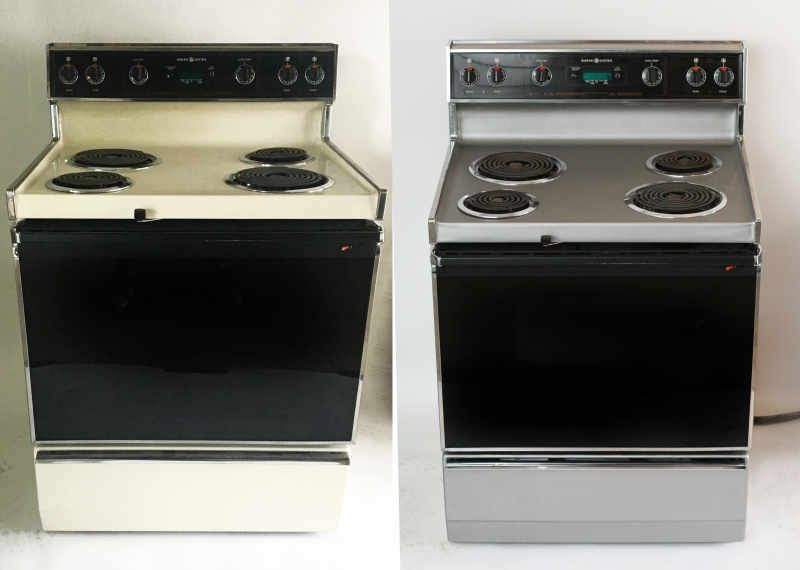 We Tried Updating An Old Appliance With Liquid Stainless Steel