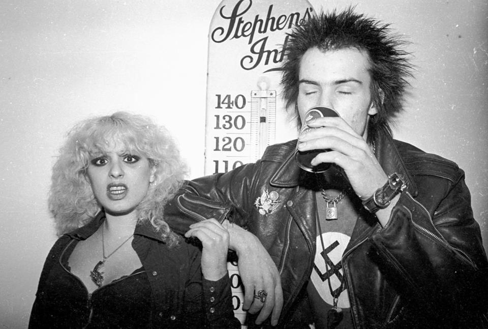 Photo by Richard Mann 1978 Johnny Rotten, Billy Joel, Pistols, Sid And Nancy