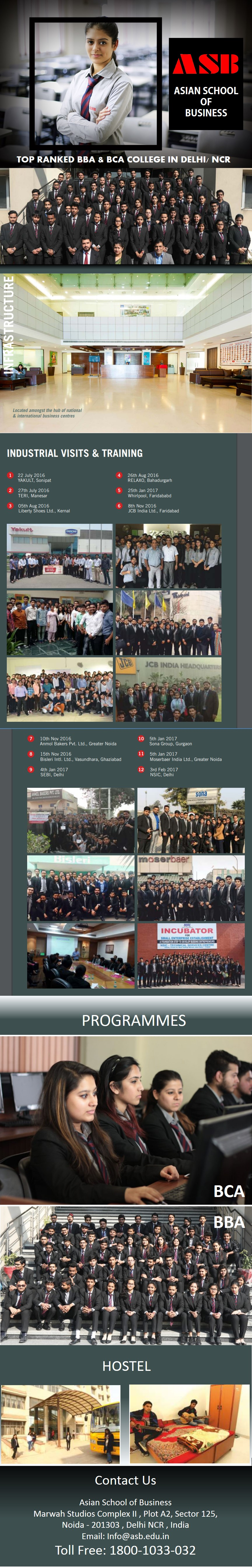 Asian School of Business has been delivering quality education amongst passionate learners for years. The institution offers BCA and BBA degree programs
