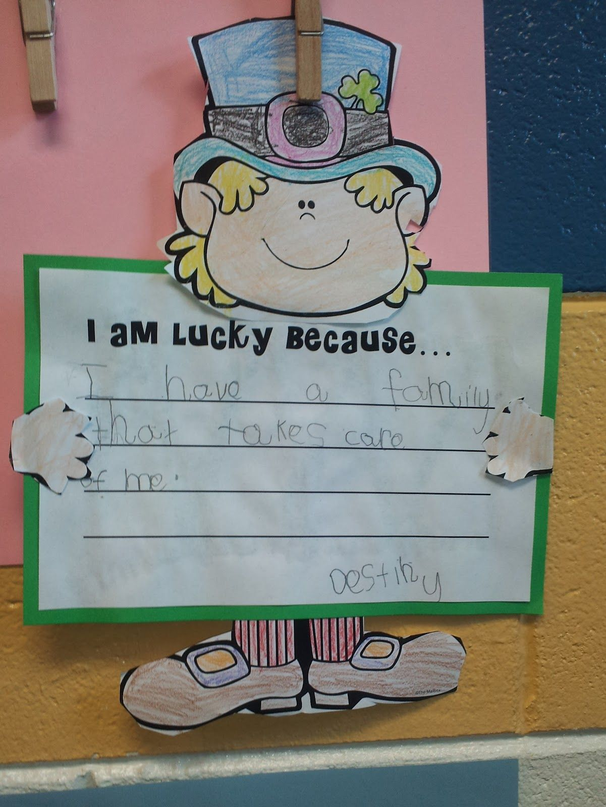 St Patricks Day Writing Craftivity From Klassy Kinders I