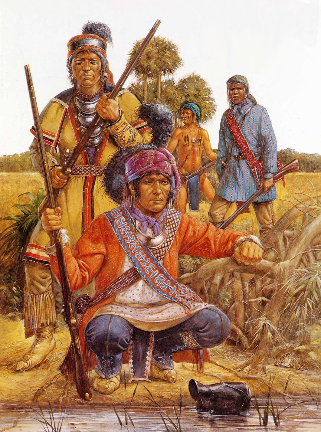 Native Americans Of The South East Including An Escaped