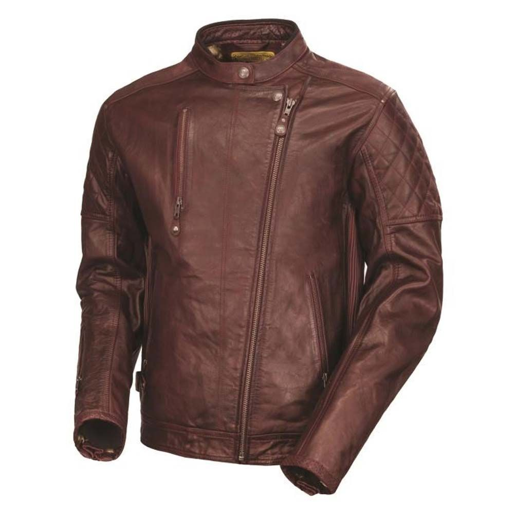 Bikes motorcycle parts and riding gear roland sands design - Roland Sands Design Clash Leather Jacket Oxblood Mens Motorcycle Jackets The Cafe Racer