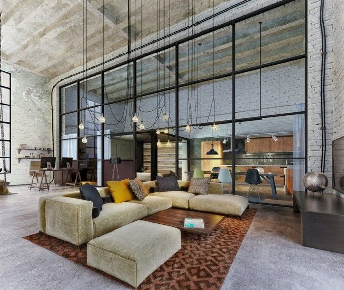 apartment design im industriellen stil loft, wohnzimmerlampe im industriellen stil - 50 ideen, wie sie, Design ideen