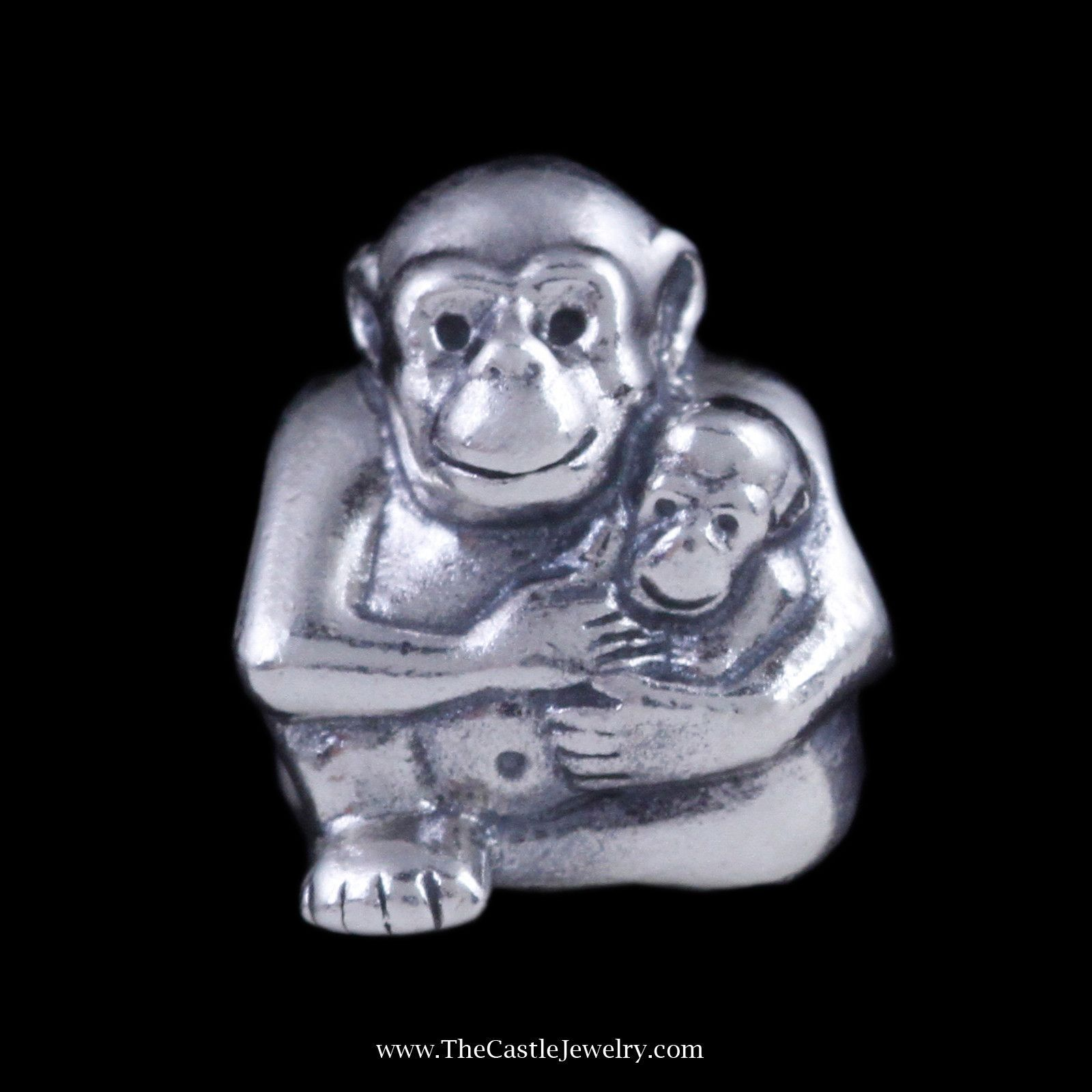 Retired Gorilla Pandora Charm in Sterling Silver