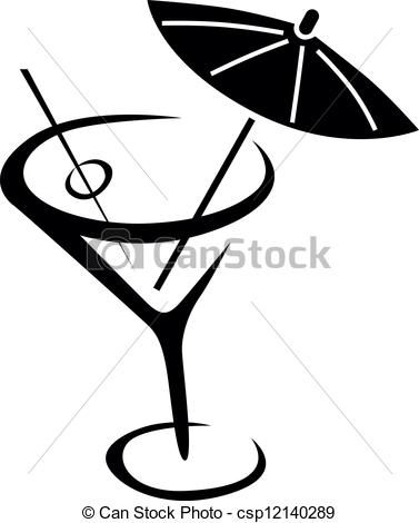 Vector Of Drink Glass Of Cocktail With Umbrella Csp12140289 Search Clip Art Illustration Drawings And Clipart Eps Vector Graphics I Art Drawings Line Art