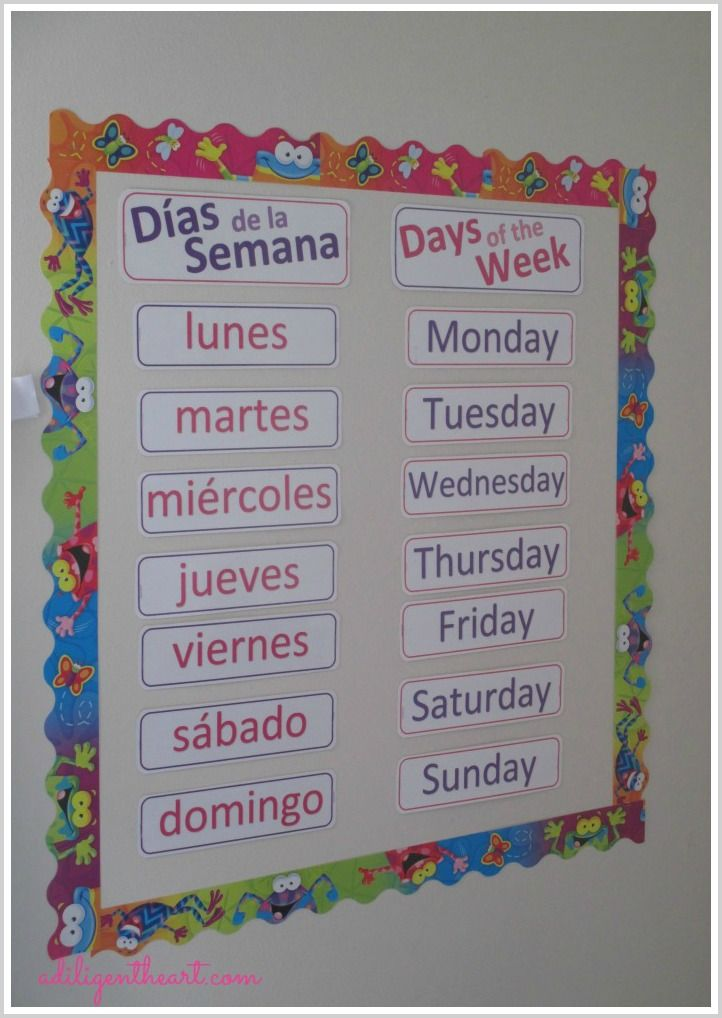 Free Calendar Printables English And Spanish Learning Spanish