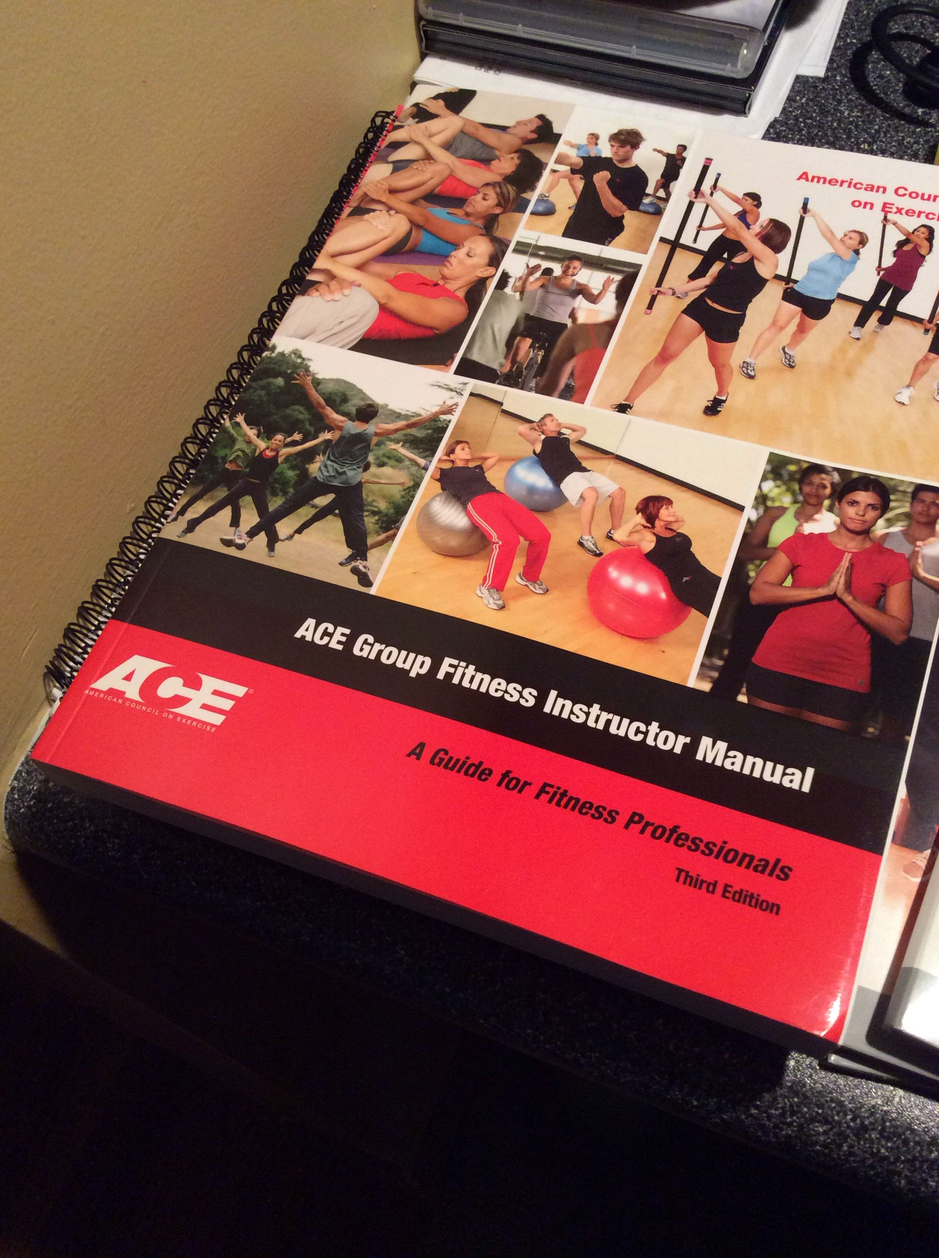 On my way to Ace Group Fitness Certification!! | i Am Certified ...