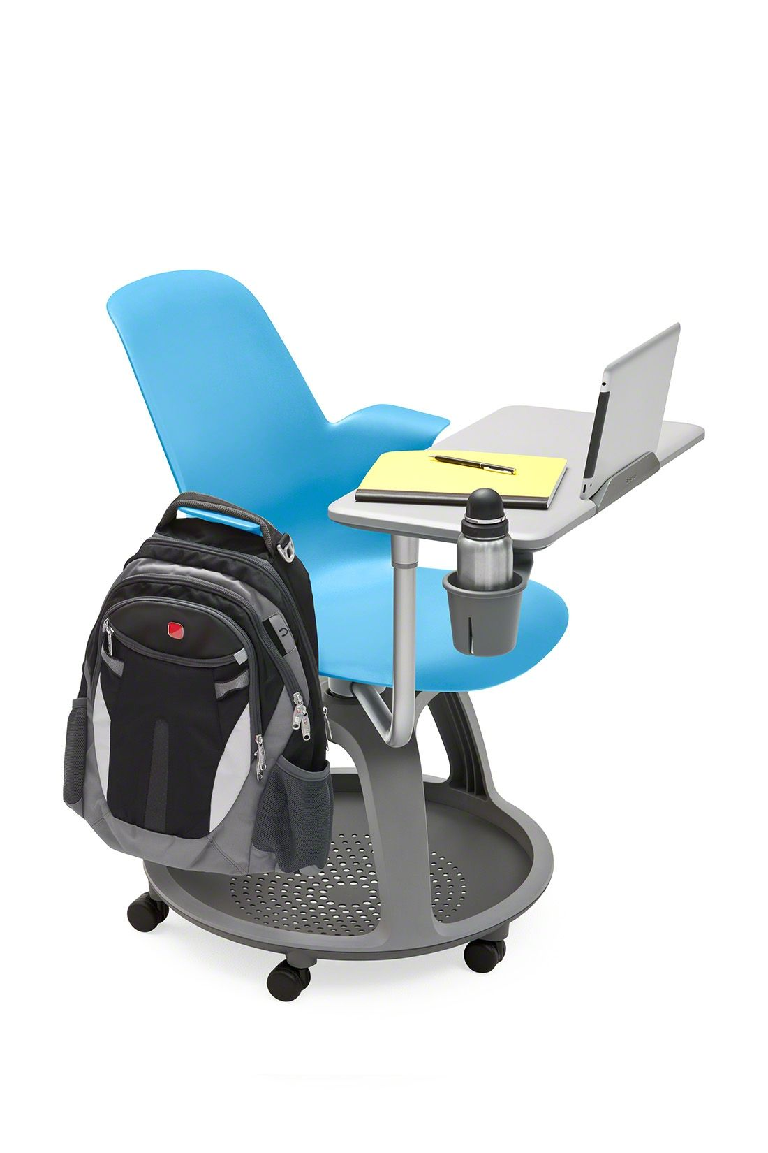 steelcase classroom chairs desk chair pillow has just recently introduced a tablet holder for their popular node seating line is great of higher ed and collaborative
