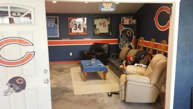Bedroom Night Stands Man Cave Sports Theme