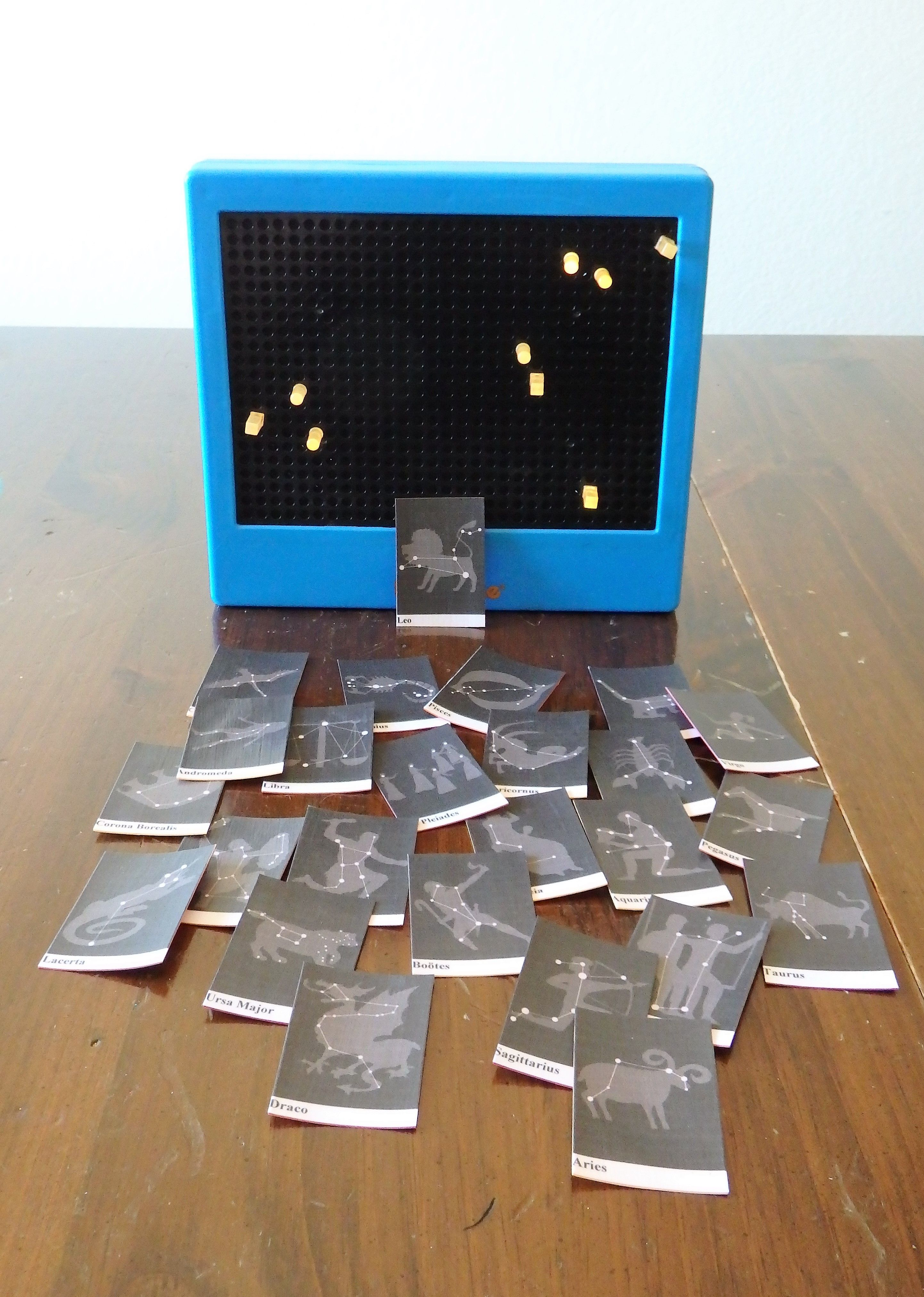 Lite Brite And Constellation Cards Images From Starrynightpainter Com Cardstock And Matte Modge Podge Astronomy Activity Harry Potter Activities Lite Brite