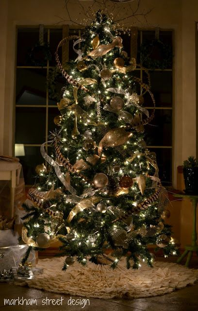 Christmas Tree with feather decorations - classy