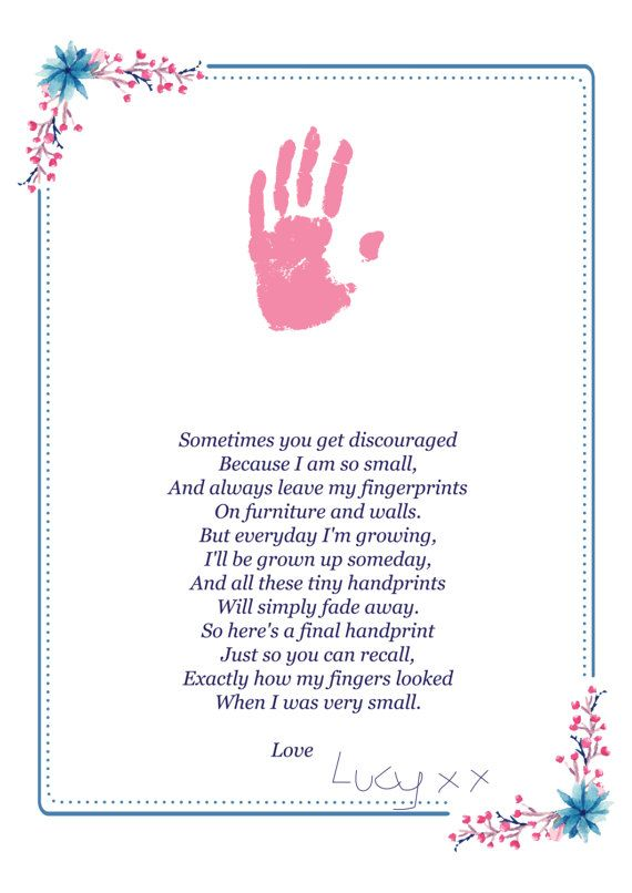 image relating to Sometimes You Get Discouraged Handprint Poem Printable called Handprint Poem - Fathers Working day Present - Electronic Down load A4 and