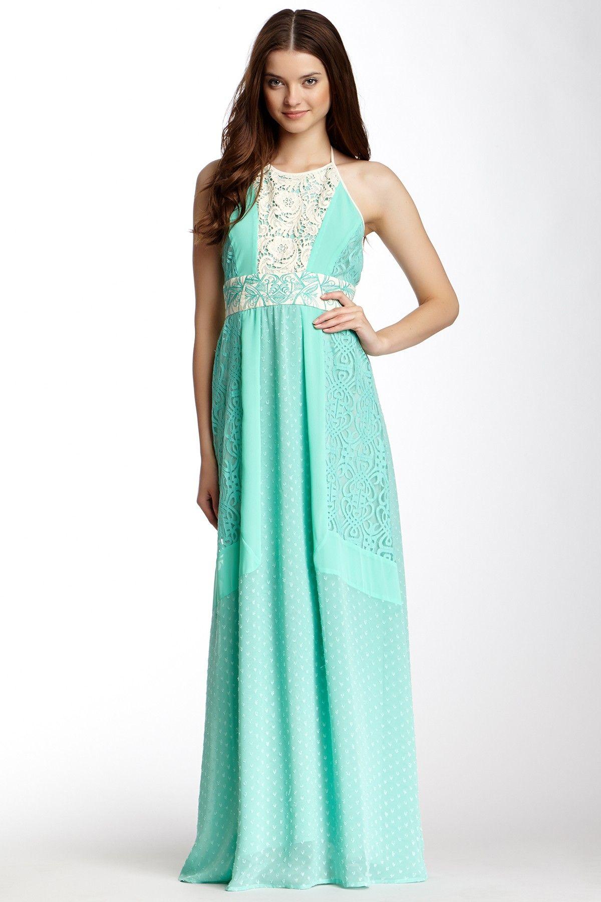 Mix halter maxi dress on hautelook style me pinterest halter