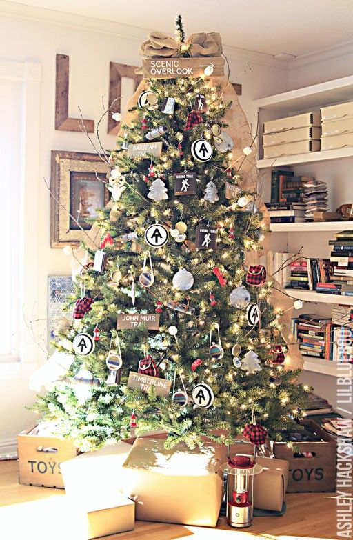 Rustic Vintage Camping Christmas Decorating Ideas From  - Camp Christmas Tree