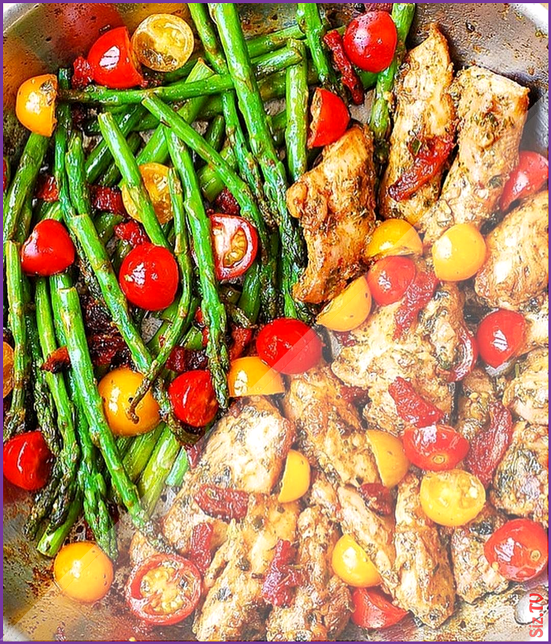 Chicken Asparagus Sun dried Tomatoes follow  deliciousfoodvideos  Hashtag Shredded Academy  us in yo...