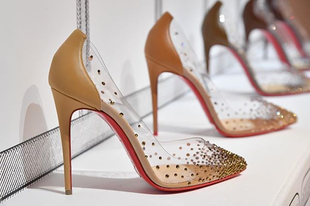 Christian Louboutin is expanding his popular nudes collection with the  Degrastrass PVC pump, which features
