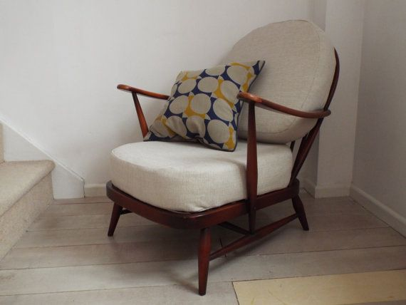 Ercol Windsor Chair 203 Fleur De Lys In Beautiful Vintage
