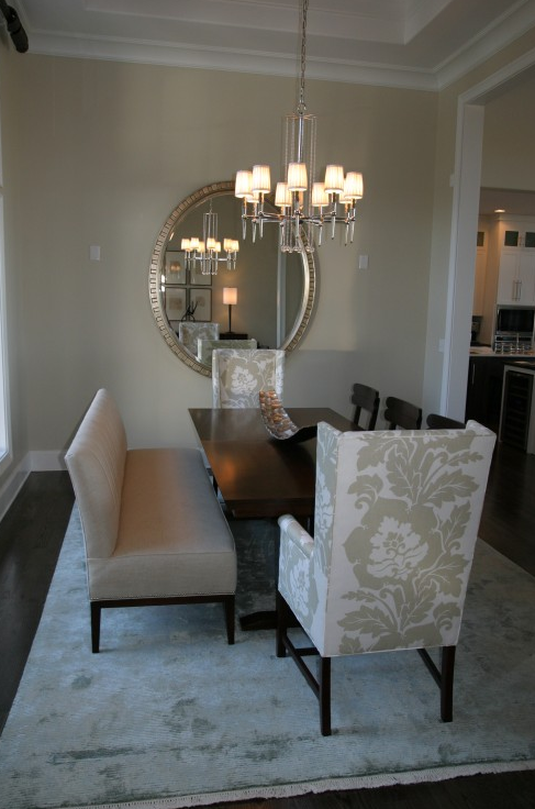 Suzie Fowler Interiors  White & Gray Elegant Formal Dining Room Stunning Captain Chairs For Dining Room Design Ideas
