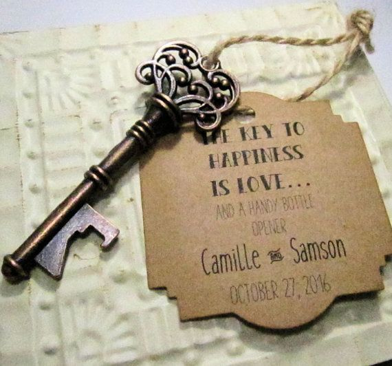 These Vintage Inspired Unique Skeleton Key Bottle Openers Would Make Great Wedding Favors Whether In A Rustic Barn Or Even Castle