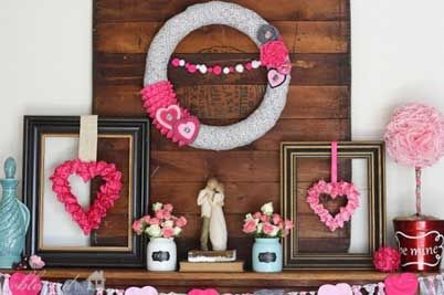 Good Gorgeous Valentineu0027s Day Mantel Décor Ideas