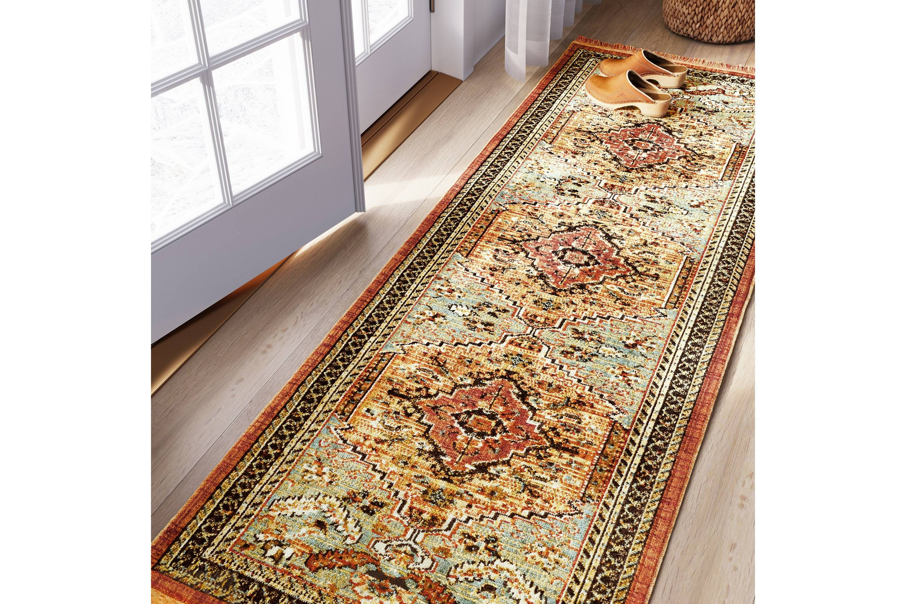 Floral Woven Accent Rug Threshold Rugs Accent Rugs